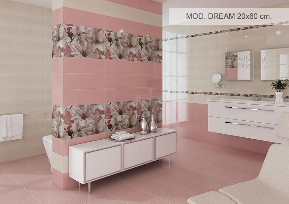 Ceramica Myr Bano Modelo Dream Saneamientos Eme Rosa - Azulejos-rosas